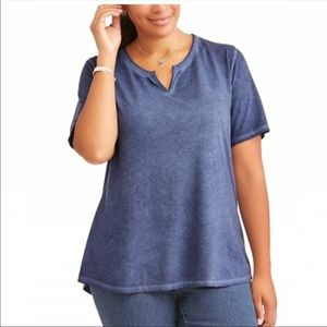 NWT Split neck tee
